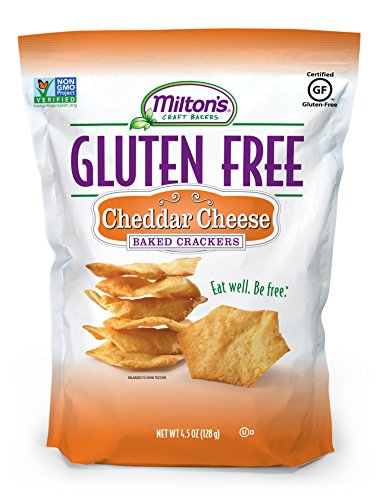 Milton's Craft Bakers, Gluten Free Baked Crackers Cheddar Cheese, 4.5 Oz. Ea. (Pack of 12)