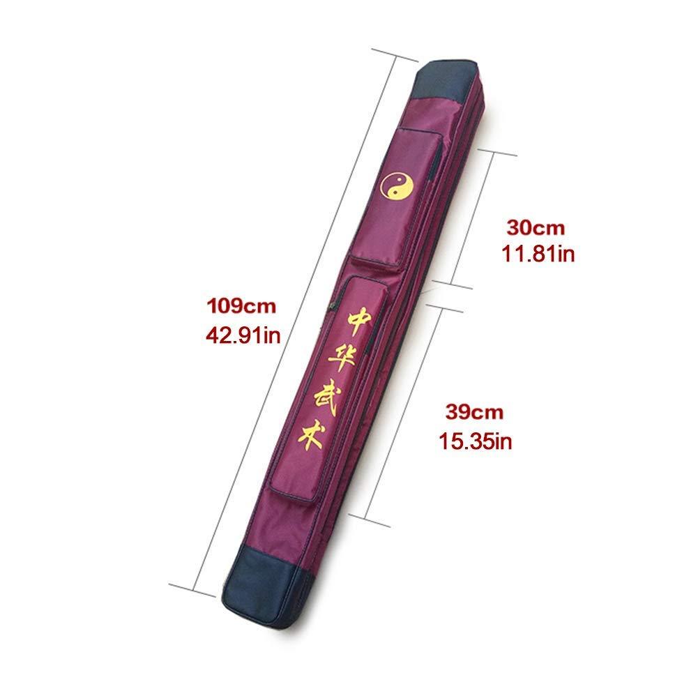 SOFIALXC Bolsa para Llevar la Espada de Taichi - Bolsa para la Espada de Kung Fu Chino Estuche de una y Doble Capa Estuche de Armas de los Artes Marciales Bolso de
