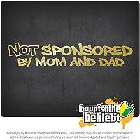 母親と父親の後援なし Not sponsored by mom and dad 20cm x 4cm 15色 - ネオン+クロム! ステッカービニールオートバイ