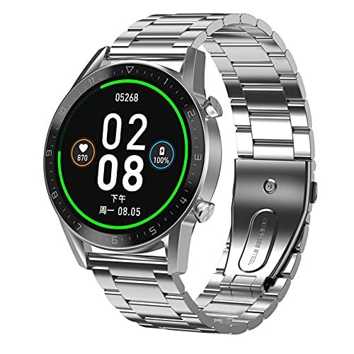 Smart Watch 1.3 pulgadas IPS Pantalla de color de vista completa de la vista Bluetooth Llamada de negocios Sports Pedómetro Smart Music Player multi-deportes Pulsera impermeable para Android y iOS