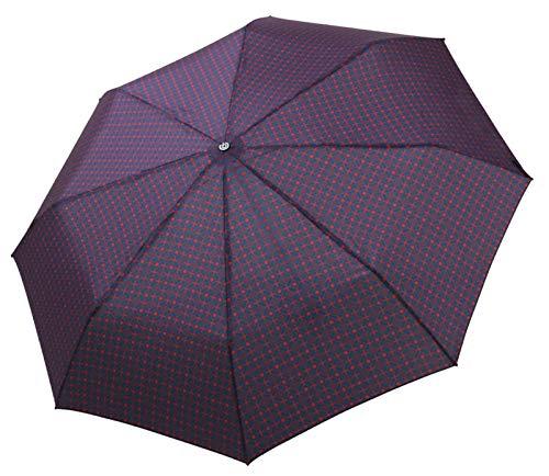 bugatti Taschenschirm Gran Turismo Carbon – Sportlicher High-Tech Regenschirm – Auf-Zu Automatik – Für besten Schutz – Navy/Bordeaux