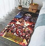 QNYH Alfombra para niños, impresión de superhéroes en 3D, Alfombra del Dormitorio de la Sala de Estar, Alfombra para Gatear del Juego de la habitación de los niños 50cmx80cm