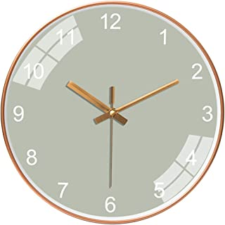 Modern Wall Clock, Cookadvan 10 inch Classic Silent Non-Ticking Quartz Round Clocks, Battery Operated and Easy to Read, Pu...