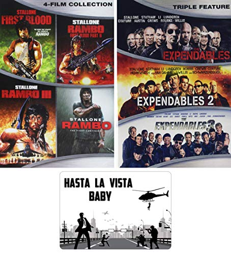 Sylvester Stallone Rambo and Expendables Complete Movies Series DVD 7 Film Collection with Bonus Art...