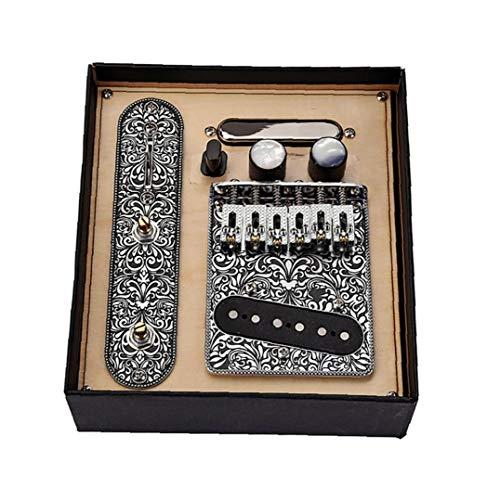 pastillas del mástil de la guitarra guitarra Pastillas Conjunto Telecaster con 6 cuerdas Tuerca Placa para guitarras eléctricas del Telecaster Material durable