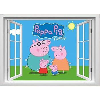 Peppa Wutz Sticker 3D Peppa Pig Stickers Aufkleber