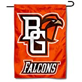 """13"""" x 18"""" in Size with Top Pole Sleeve for hanging from your Garden Stand (Accessories Sold Separately) Made of Double Sided 2-Ply 100% Polyester with Sewn-In Liner, Double Stitched Perimeter Sewing, Imported BGSU Falcons Logos are Screen Printed and..."""