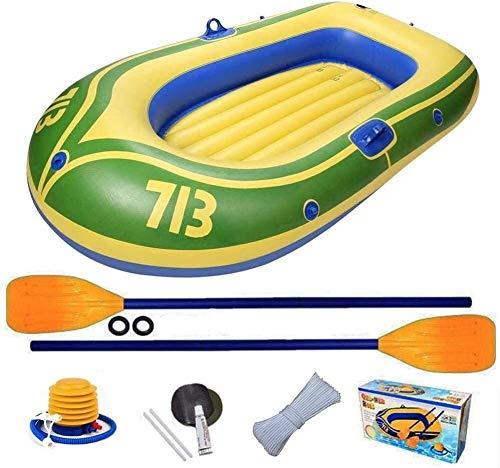 YYhkeby Kayak, Conjunto de Botes inflables de PVC de 2 Personas, balsa de Pesca portátiles de Pesca con remos y Bomba de Aire de Alta Salida, para Deriva Jialele (Color : -)