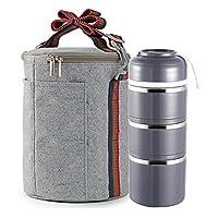 子供のお弁当箱ステンレス鋼の熱い昼食箱漏れ防止台所用品コンテナ