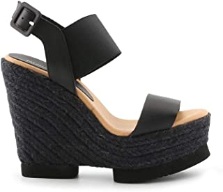 PALOMA BARCELÓ Women's KOEMIBLACK Black Leather Wedges