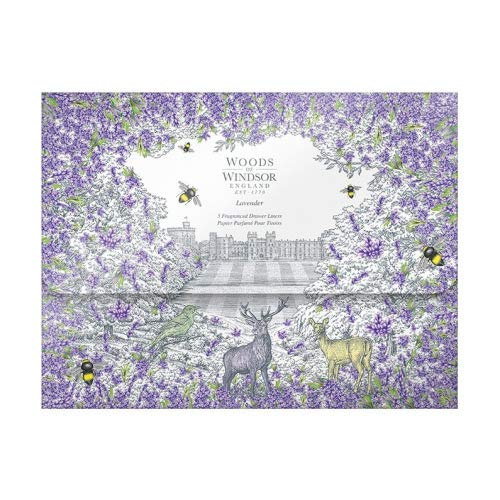 Woods of Windsor 5 Bögen Schrankpapier Lavendel