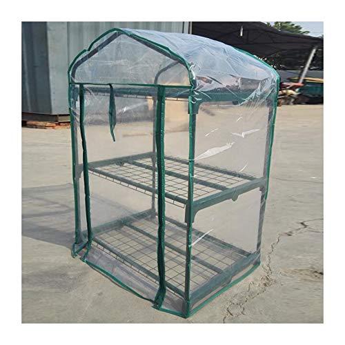 Indoor Greenhouse Waterproof Tarpaulin 2-story Greenhouse Load Bearing Zipper Design Windproof Keep Warm Outdoor Garden (Color : 1pcs, Size : 69x49x92cm)