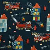 Sweatstoff Tatütata, Feuerwehr, brennende Häuser,