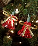 dobar Holiday Essentials Synchronized Musical Bell Lights - Play 25 Classic Christmas Tunes - UL Listed - Set of 30