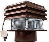 Extractor De Humos Para Chimeneas Redonda 30 cm 300 mm Extractores De Humo Sombrero Eolico Extractores Para Extracción De Humo Aspirador De Humos Para Barbacoa Parillas Estufa De Pellets