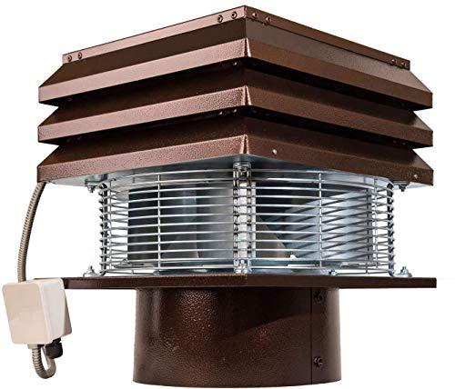 Aspirafumo elettrico Tirafumo Aspiratore elettrico per camini e canna fumaria tonda da 30 cm modello professionale per camini barbecue canna fumaria tonda da 300 mm