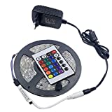 KIODS LED Tira Tira de luz LED RGB Strip 5050 Impermeable Led Llight Tape Emitting Diode   Lamp Ribbon Dc12V   Flexible RGB Lighting Tape Set Completo