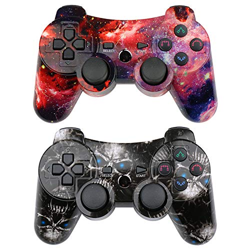 CHENGDAO PS3 Controller 2 Pack Wireless Dual Shock Gamepad for Sony...