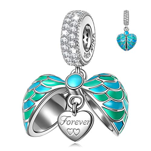 NINAQUEEN Charm fit Pandora Charms Love Heart Pendant 925 Sterling Silver Jewellery Birthday Gifts for Women Girls Gifts for Her, Mother's Day Gifts for Girlfriend Wife Mom