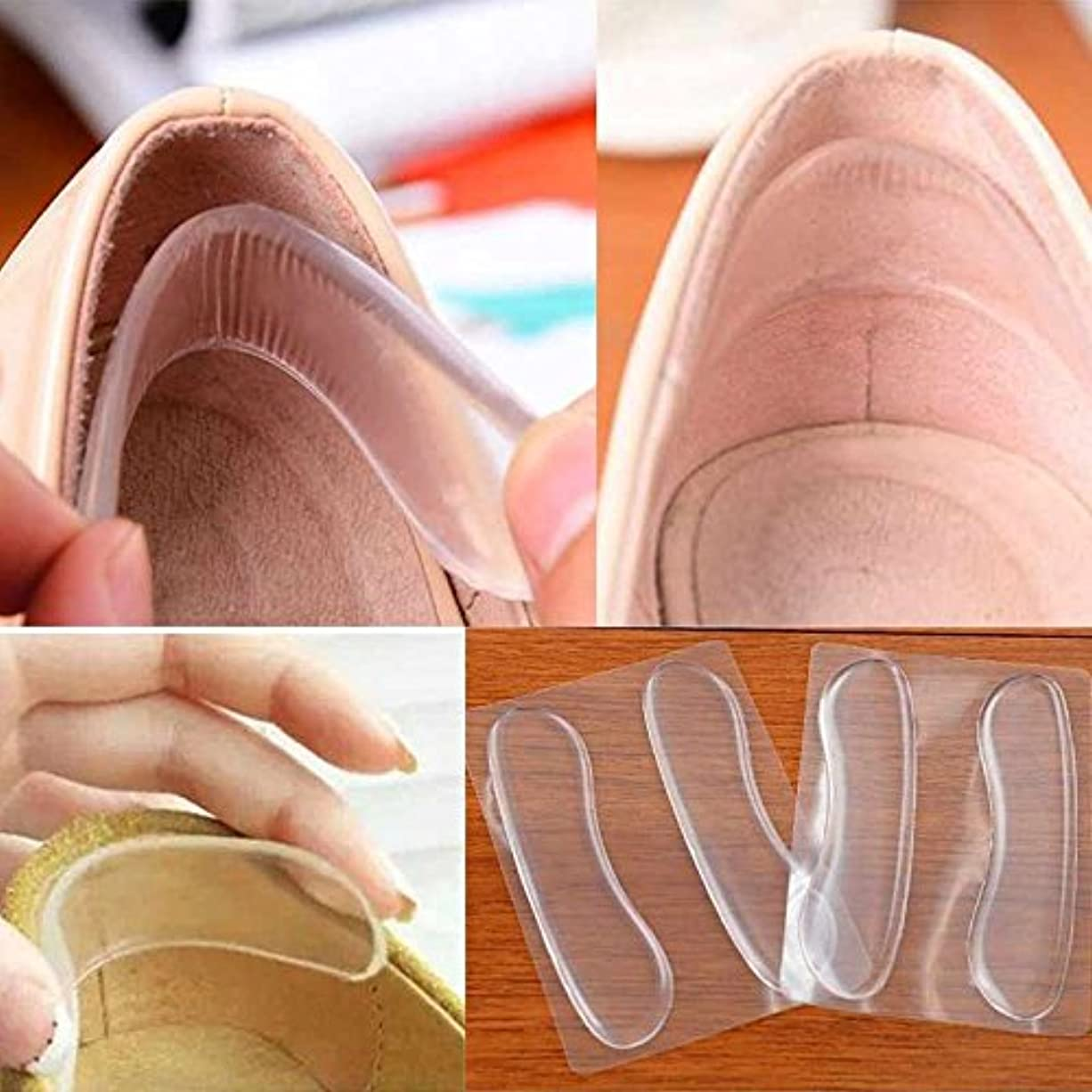交じる外側流星LuxBene(TM) 2個ソフトシリコンパッドプロテクターシリコーンゲルの靴ハイヒールの靴パッドスティックヒールペディキュア用の保護シリコーンバックヒール
