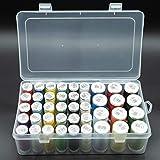 Nähfadenbox für Nähgarn - praktische Garnbox/Aufbewahrungsbox zum Aufbewahren von Garnspulen, Fadenspulen und Nähfaden - bis zu 42 Spulen ordentlich verstaut in einer Box!