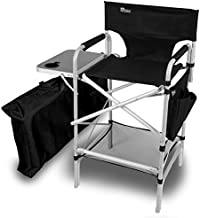 Earth Executive VIP Tall Directors Chair w/Side Table and Carry Bag