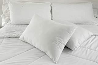 East Coast Bedding Down Pillows – Set of 2 – 100% Real White Down, Superior Hotel Quality Pillows for Side & Back Sleeping...