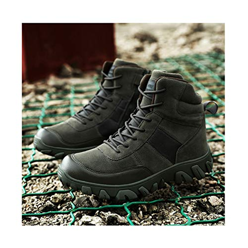 Winter Hunting Shoes Tactical Boots,Military Combat Boot ,Men Army Trekking Camping Mountaineering Shoe,Green-42