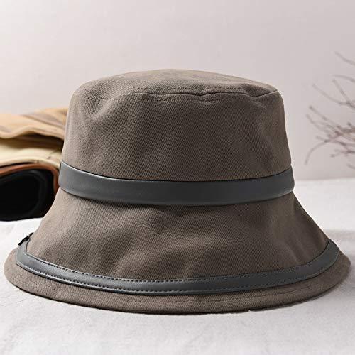 Paar visser hoed herfst en winter nieuwe paar hoed visser flat top katoen stiksels bassin hoed mannelijke vouwen zonnescherm zonnescherm doek hoed vrouwelijke,Gray