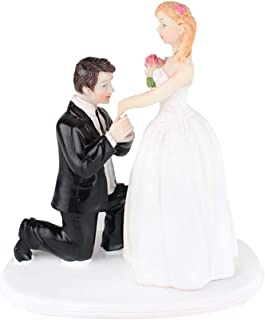 Bride and Groom On One Knee Resin Cake Topper Groom Bride Doll Ornaments Wedding Cake Decoration