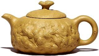 Sjydq 270ml Teapot Handmade Retro Purple Clay Tea Pot Raw Ore Mud Kettle Authentic Tea Set Household