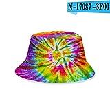Nuevo Sombrero Estampado Tie-Dye Sombrero de Pescador Coreano protección Solar de Verano Sombrero para el Sol UV Primavera y Verano