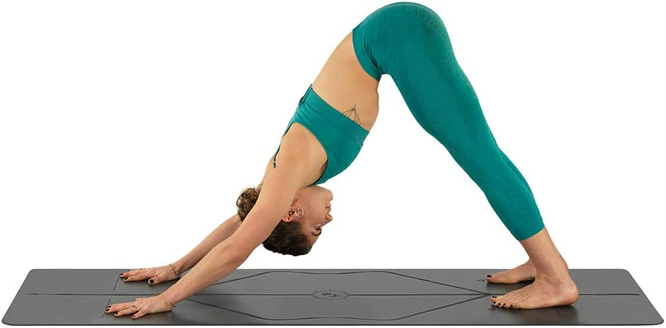 Non-Slip Patented Alignment System Eco-Friendly and Biodegradable Warrior-Like Grip 4.2mm Thick mat for Comfort Liforme Original Yoga Mat Sweat-Resistant
