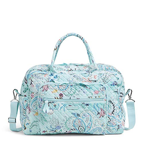 Vera Bradley Signature Cotton Weekender Travel Bag, Paisley Wave