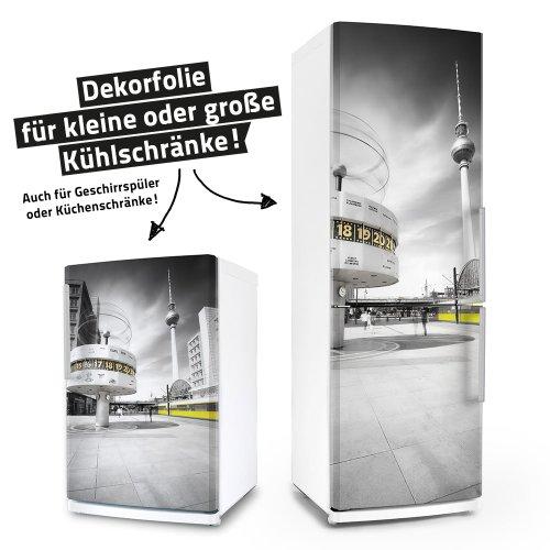 posterdeluxe Kühlschrank- & Geschirrspüler-Folie - Einfach Berlin! - Dekorfolie Aufkleber Klebefolie Front