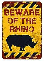 アメリカ雑貨 アメリカン雑貨 英語版 動物注意 ブリキ看板 警告コーギー 金属板 注意サイン情報 サイン金属 安全サイン 警告サイン 表示パネル (RHINO)