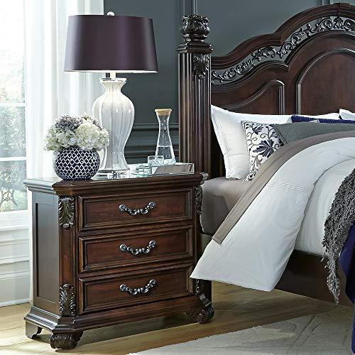 "Liberty Furniture Industries Messina Estates 3-Drawer Night Stand, 30"" x 17"" x 30"", Cognac"