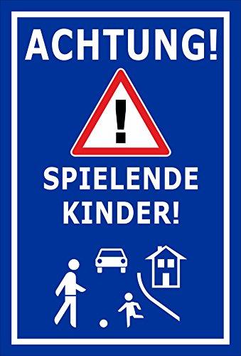 Melis Folienwerkstatt Schild - Spielende Kinder - 30x20cm | Bohrlöcher | 3mm Aluverbund - S00040-040-F - 20 Varianten