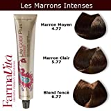Coloration cheveux FarmaVita - Tons Marrons Intenses Marron Clair Marron Intense 5.77