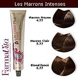 Coloration cheveux FarmaVita - Tons Marrons Intenses Blond Foncé Marron Intense 6.77