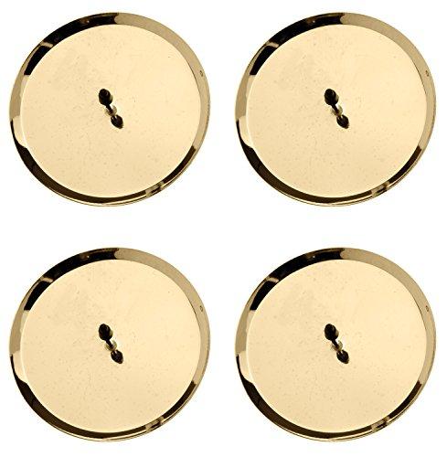 Glorex Kerzenhalter 67021302 - 8 cm, 4 Stück, gold
