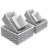 Hoseejoy Lot de 6 boîtes de Rangement en Tissu Pliable sous-vêtements Chaussettes Organisateur Boîte de Rangement Pliable...