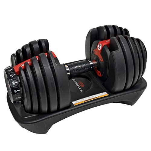Bowflex Unisex's 552i Single Adjustable Dumbbell, Black/Grey/Red, One Size