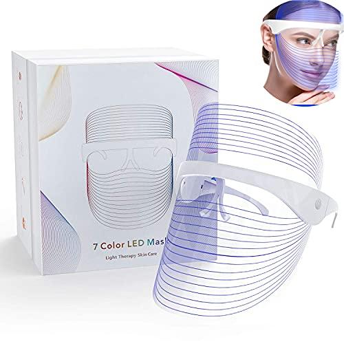 LED Beauty Mask LED Light Facial Mask 7 Colors...