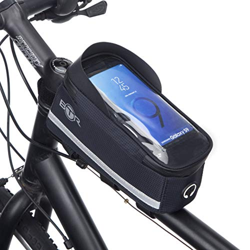 BTR Rahmentasche Fahrrad mit GPS/Handytasche, Fahrradtasche Rahmen GEN6. Recycelbare Verpackung