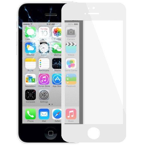 alsatek Repuesto Cristal Delantero para iPhone 5C Blanco