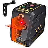 2020 Upgraded Laser Level, 50ft Cross Line Red Laser Self Leveling Tool with Horizontal and Vertical Laser...
