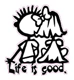 Nostalgia Decals Life is Good Decal 5' in The United States