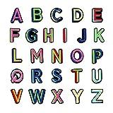 SUPVOX 26 Stücke Buchstaben Patches Stickerei Flicken Aufnäher Aufkleber Bügelbilder