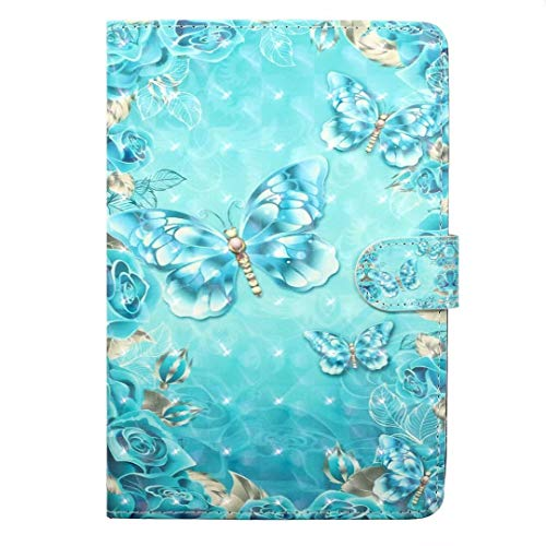 Nook GlowLight 3 Universal Case,Unique 3D Bling Premium PU Leather Flip Case Kickstand Protective Cover for Barnes and Noble Nook GlowLight 3 eReader 2017 Release BNRV520
